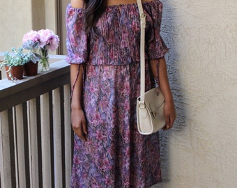 Off-the-shoulder Vintage Dress