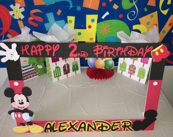 mickey mouse  party photo booth frame