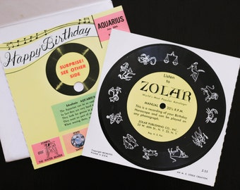 Aquarius Zolar Birthday Record Card