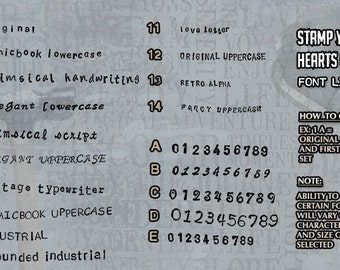 Our Font List