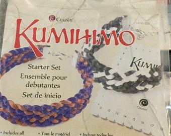 Complete Kumihimo Bracelet Kit, Makes 2