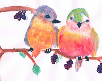 Lovebirds Art prints