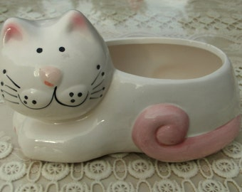 Mt Clements Pottery Vintage Kitty Cat Planter