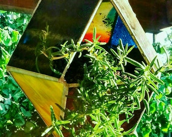 Stained Glass Dodecahedron Planter