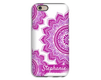 Mandala iPhone case, boho iPhone 6s case, pink mandala iPhone 6s Plus case, iPhone 5s case, iPhone 6 Plus case/6 case, iPhone SE case