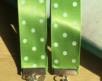 Green Polkadot Ribbon Bookmark