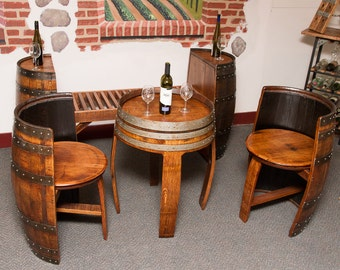 1083 Sonoma Barrel Table Set
