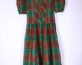 80's-90's vintage KENZO multi-check color dress