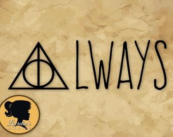 Harry Potter SVG,  Harry Potter Logo, (zipped .eps .pdf .dxf .svg and .studio file) vector cutting files