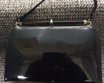 Vintage Patent black handbag