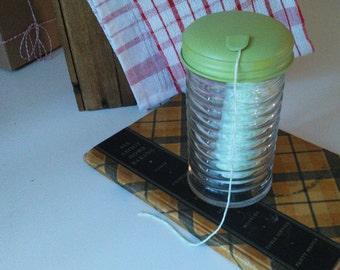 Vintage Glass Jar , Vintage kitchen decor, Sugar Jar, String Holder