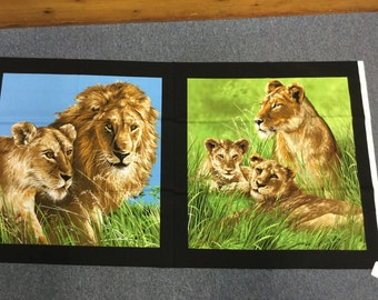 Lions by Exclusively Quilters