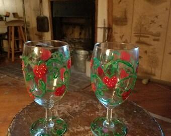 Strawberry Wine Glasses