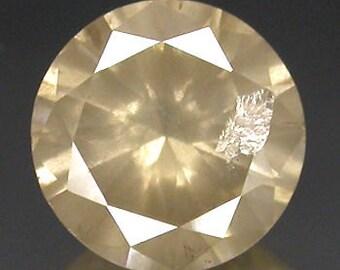 loose Diamond#0.96Ct, Light Copper Round Natural Diamond.