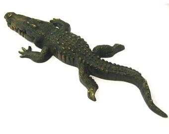 Brass Mini Crocodile Replica