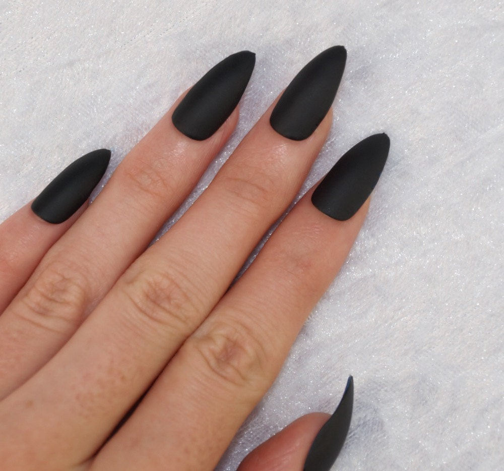 Press on Nails Louboutin Inspired Nails Red and Black Nails from ...