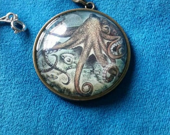Steampunk Octopus Necklace (with chain)