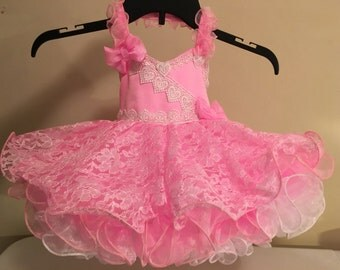 New national pageant dress shell size 6-12mos ready to wear and ship!