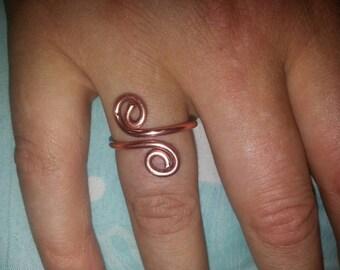 Handmade S Shape Copper Ring