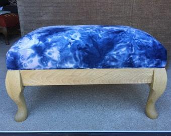 SALE Tie-dye footstool