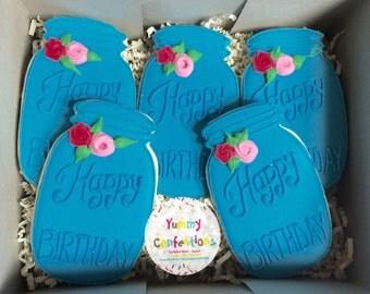 Happy Birthday Cookies -1 Dozen cookies (12 Cookies)