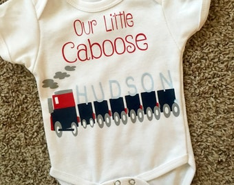 Our Little Caboose onesie//bodysuit
