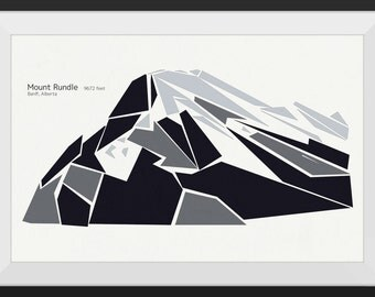 Mount Rundle - Banff, Alberta - Premium Mountain Print, Art Print, Wall Art, Mountains Canada