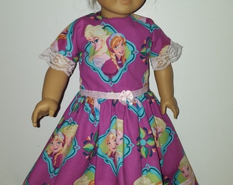 Full length dress for American Girl Doll or other 18 inch dolls