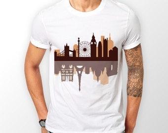 Amazing London Theme White T-Shirt Mens