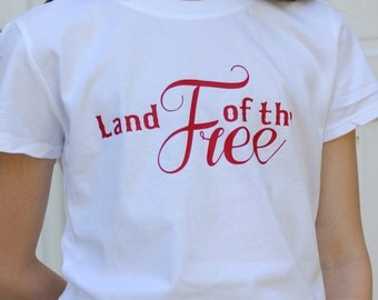 Girl's Land of the Free tee