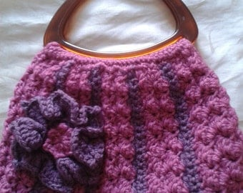 Crocheted pink bag