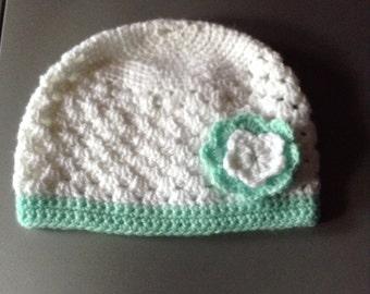 Pretty white baby Hat
