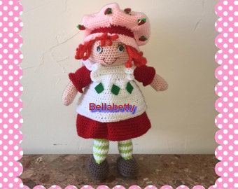 Pattern, boss, french tutorial crochet Strawberry charlotte