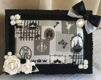 Decorated wooden box-once upon a time ... By Mel
