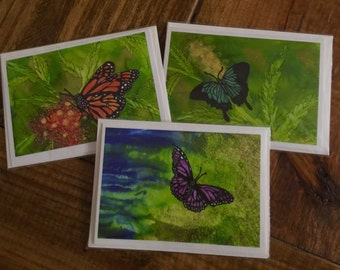 Butterfly card series -set of 3