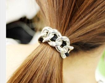 Chain hair tie