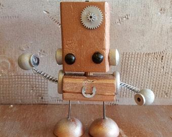 C.H.A.D.D. wooden robot