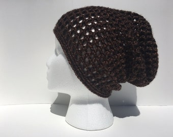 Brown Spring Fall  Slouchy Beanie