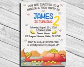 Dragons Love Tacos Birthday Party Invitation * Personalized Digital Printable File