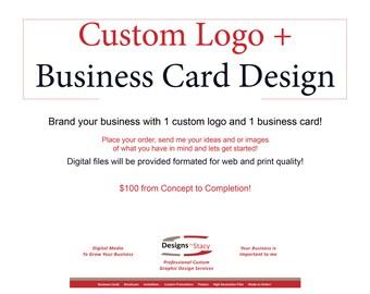 Custom Logo and Custom Business Card Digital Files