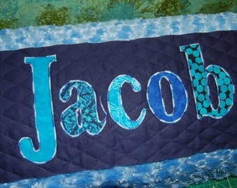 Large Blue Personalized Pillow Case for Kids, Gift for Boys, Name Pillow, Boy Gift, Bed Pillow, Body Pillow, Lumbar Pillow, Room Decor