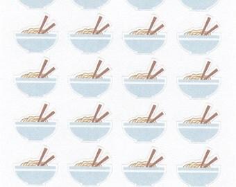 Ramen Noodle Bowl Planner Stickers