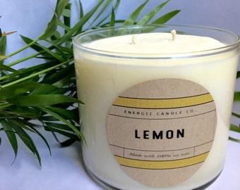 Lemon Soy Wax Candle 14.5 oz.