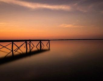 Carlyle Lake Illinois Sunset Fine Art Photograph 8x12 16x24
