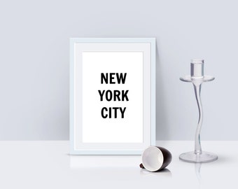 New York City digital art print