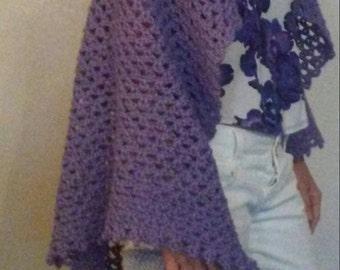 Lavendar Lace shawl