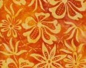 Orange Batik Fabric