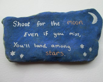 Painted Stone with Quote