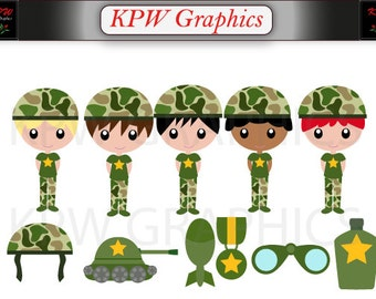 Camouflage clipart – Etsy