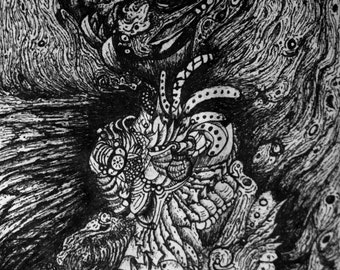 "Psychedelic Art Print ""Voyage"""